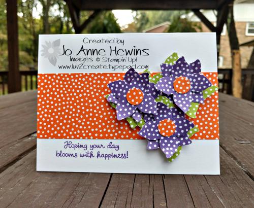 CCMC#533 Four-Petal Flower punch card by Jo Anne Hewins