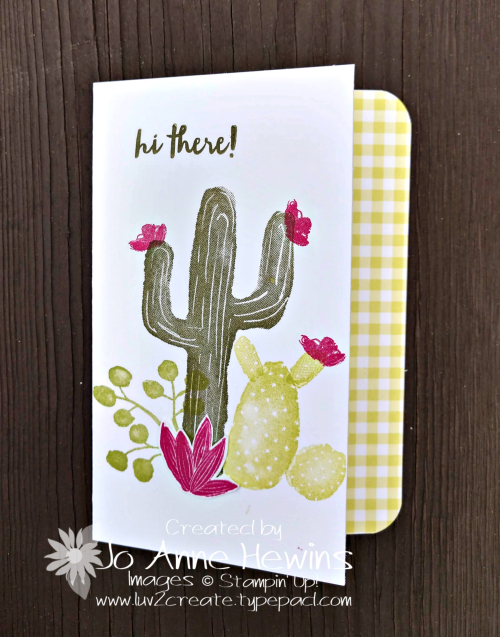 February OSAT Flowering Desert notecard with envelope by Jo Anne Hewins