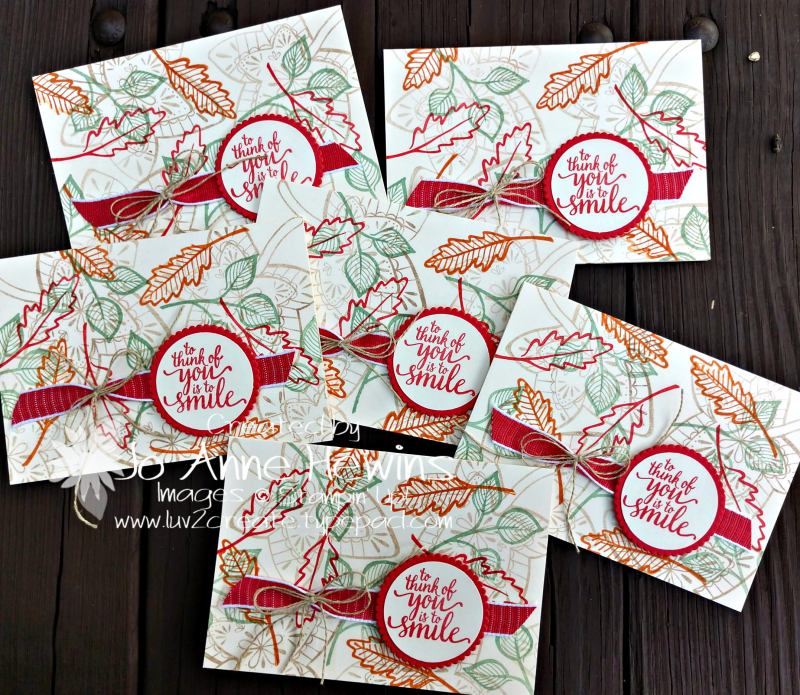 Falling for Leaves Vanilla Note Card group by Jo Anne Hewins