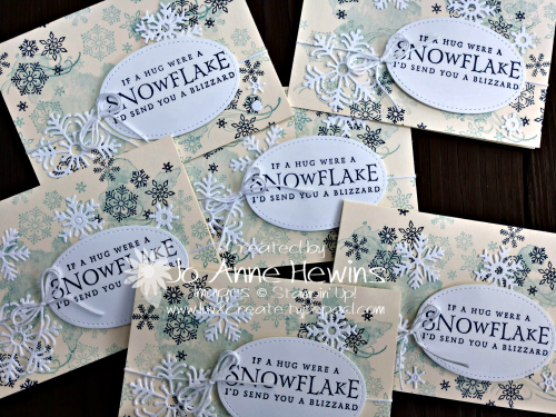 Beautiful Blizzard Vanilla Note Card Group by Jo Anne Hewins