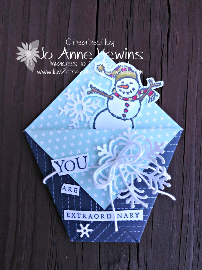 Beautiful Blizzard treat holder by Jo Anne Hewins