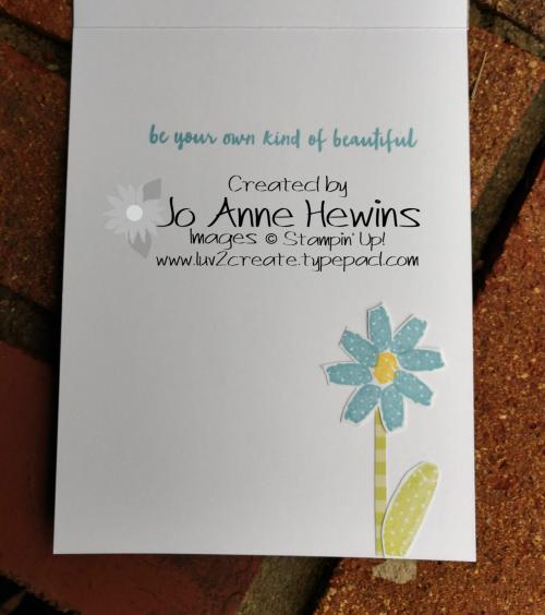Flowering Desert Flowers inside of card by Jo Anne Hewins