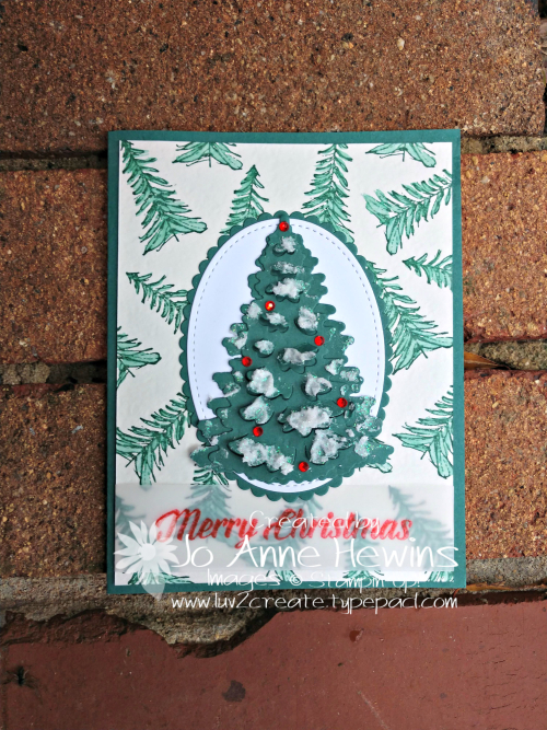 Timeless Tidings Christmas Tree by Jo Anne Hewins