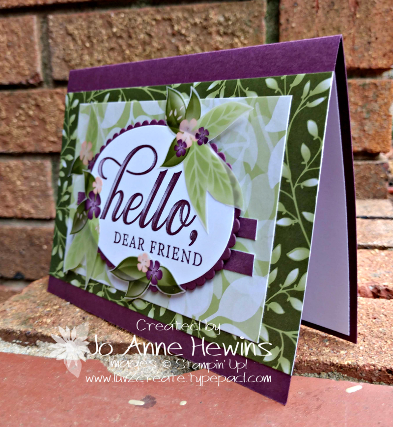 CCMC#550 Life is Grand card by Jo Anne Hewins