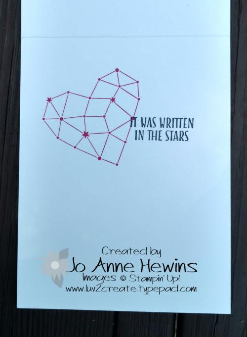 Little Twinkle card inside by Jo Anne Hewins