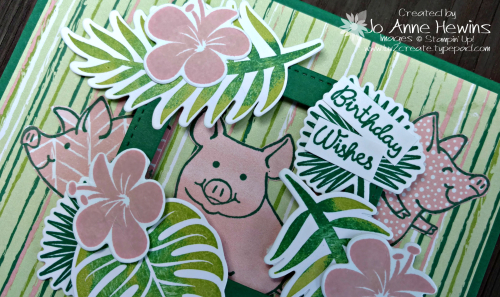 CCMC #519 This Little Piggy & Tropical Chic close up by Jo Anne Hewins