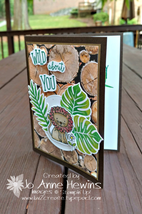 A Little Wild paired with Tropical Chic by Jo Anne Hewins