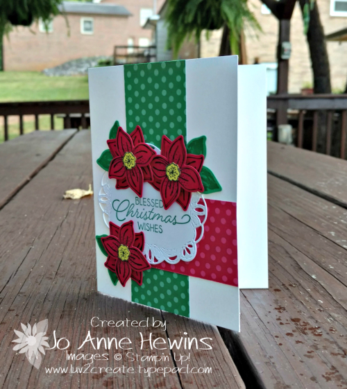 CCMC#520 Pop of Petals bundle Christmas Card by Jo Anne Hewins