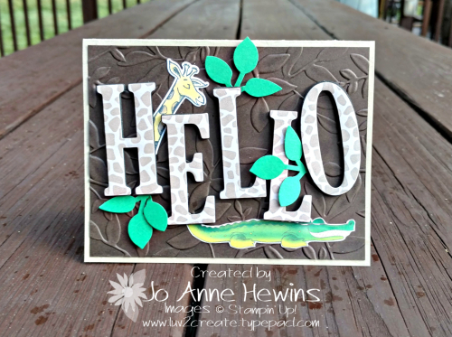 Hello Animal Outing card by Jo Anne Hewins