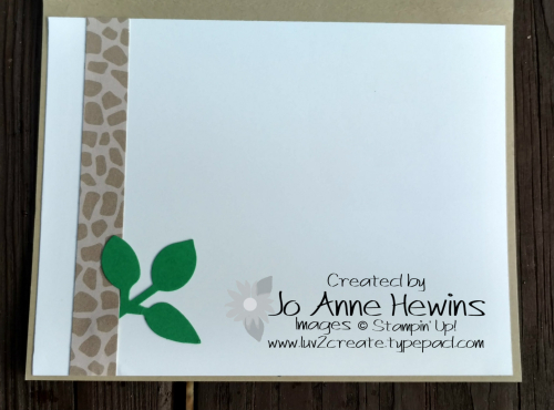 Hello Animal Outing inside of card by Jo Anne Hewins