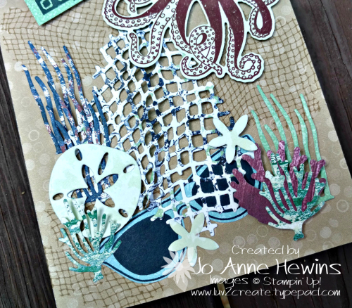 NC Demo Blog Hop Summer Fun close up of beach card by Jo Anne Hewins