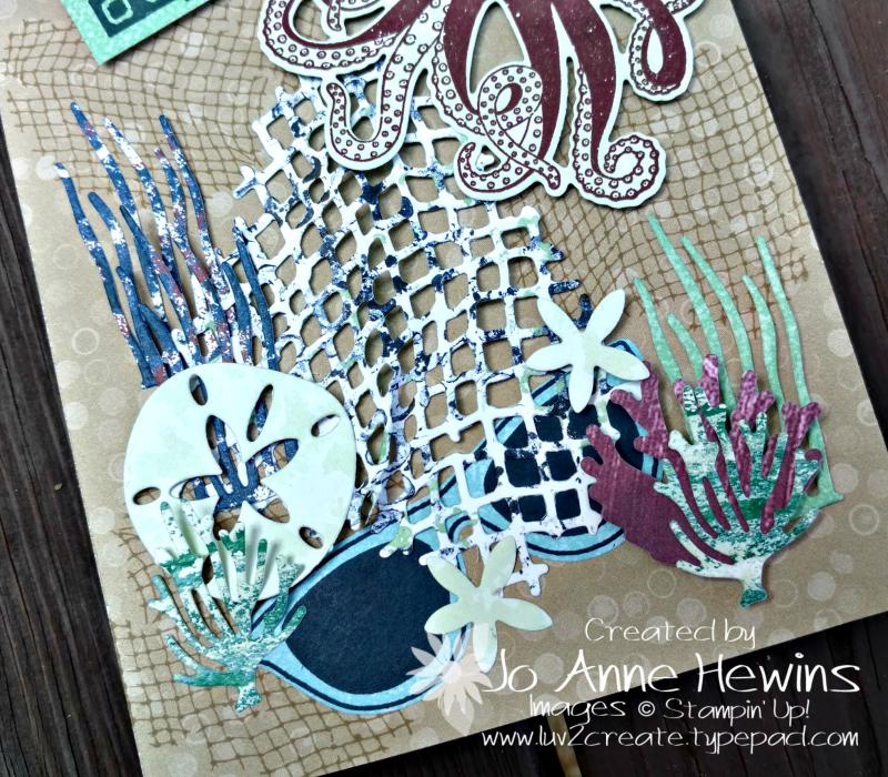 NC Demo Blog Hop Summer Fun close up of beach card by Jo Anne Hewins