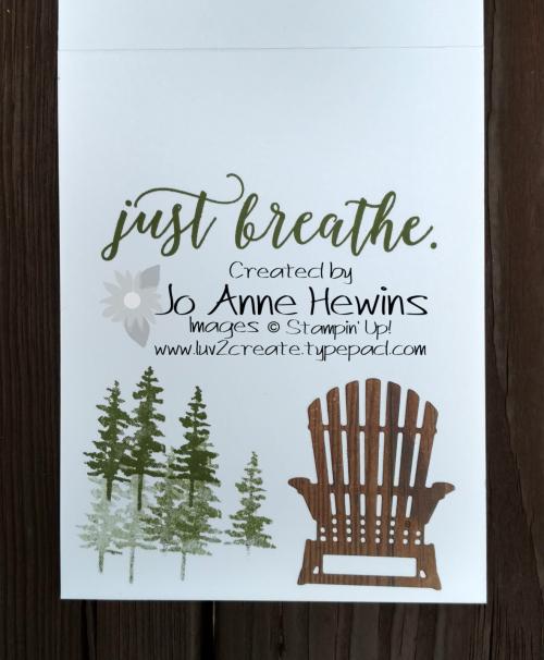 NC Blog Hop Summer Fun inside of mountain card by Jo Anne Hewins