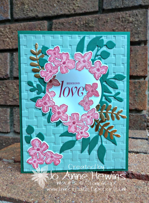 Color Fusers Floral Frames card by Jo Anne Hewins