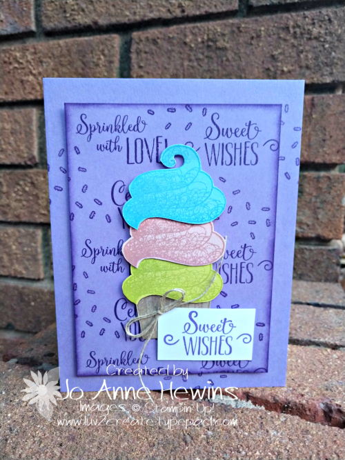 Hello Cupcake card by Jo Anne Hewins