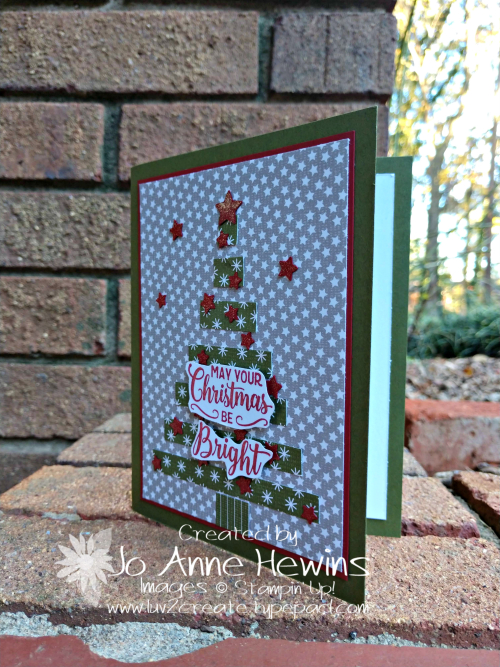 CCMC#539 Making Christmas Bright card by Jo Anne Hewins