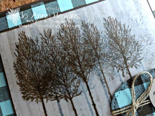 Winter Woods Vellum close up by Jo Anne Hewins