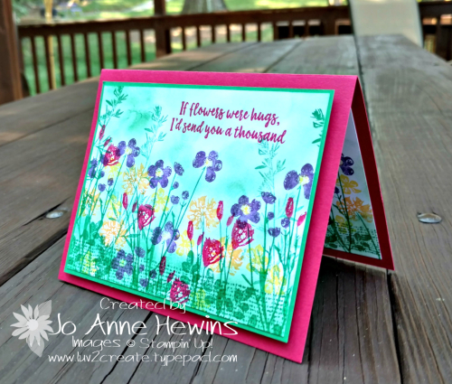 Color Fusers Pressed Flowers hose set card by Jo Anne Hewins