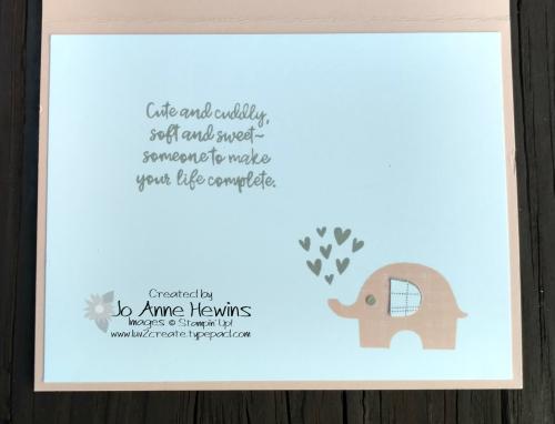 Little Elephant bundle inside of card by Jo Anne Hewins