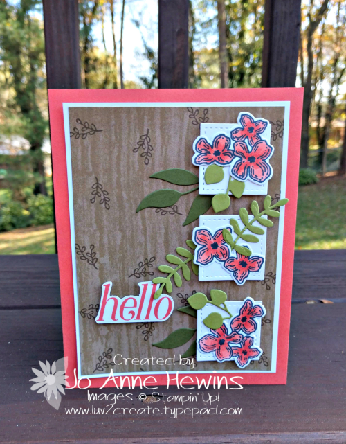 Floral Frames card by Jo Anne Hewins