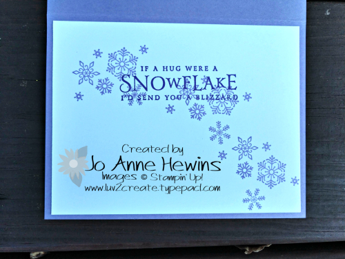 SNOW with Spirited Snowmen and Large letters inside by Jo Anne Hewins