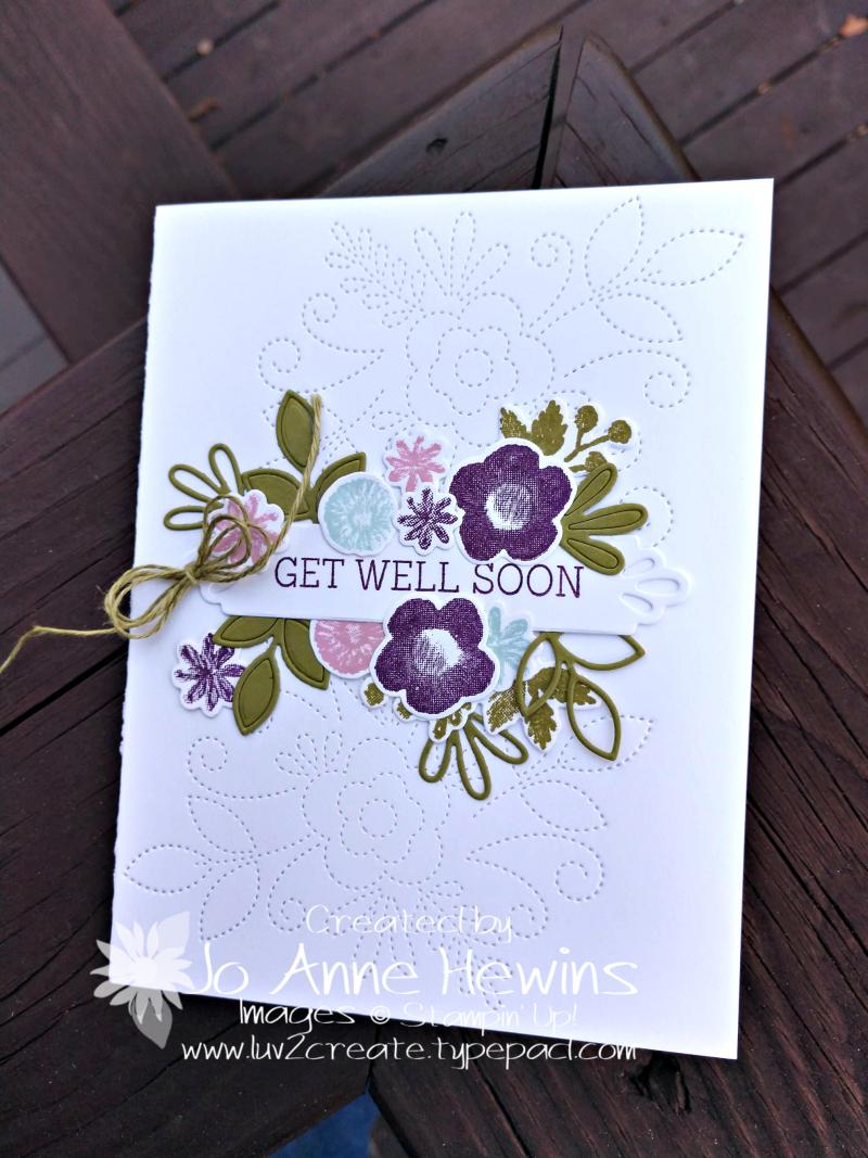 Needle & Thread card by Jo Anne Hewins