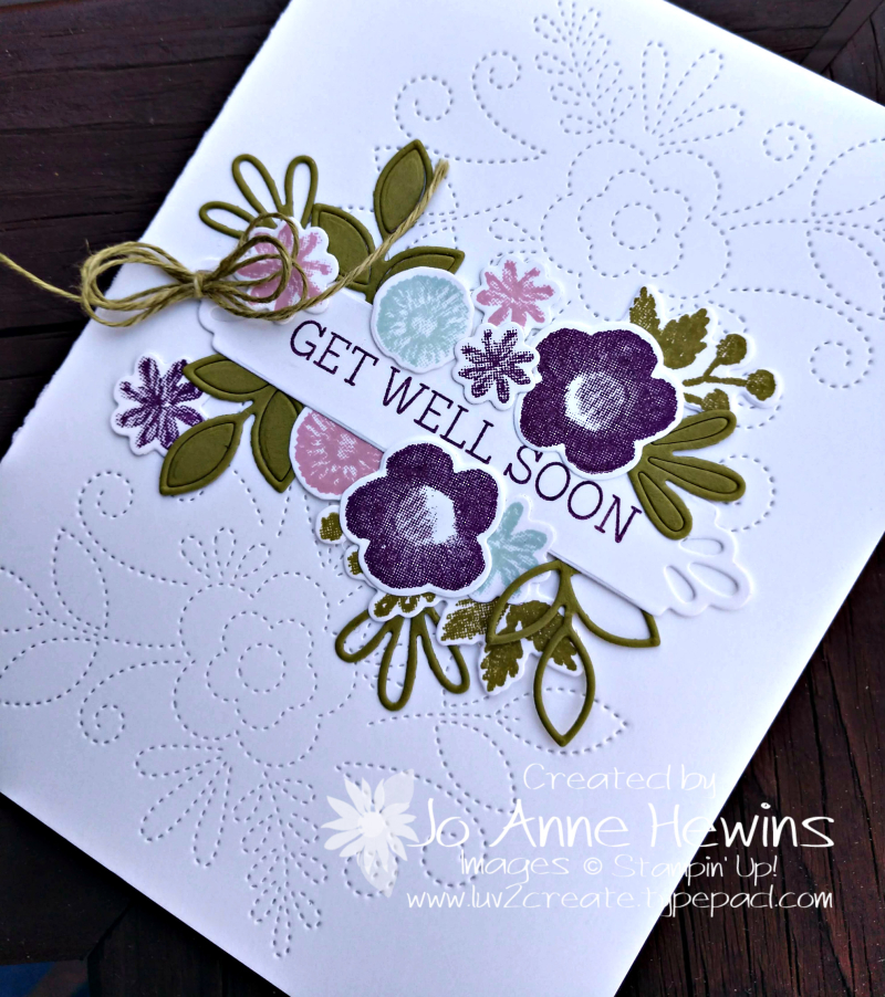 Needle & Thread card close up by Jo Anne Hewins