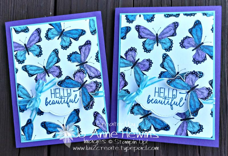 CCMC#541 Butterfly Gala duo by Jo Anne Hewins