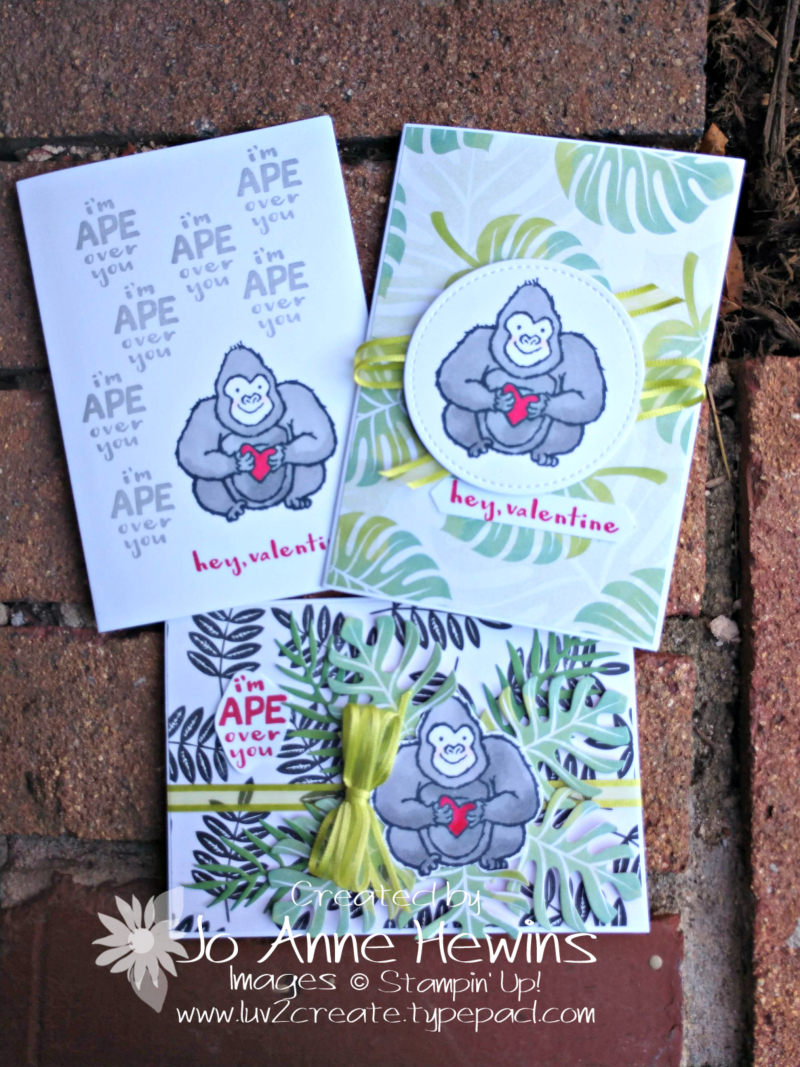 Hey  Love! Gorilla for Beginner  Occasional  and Avid Stamper by Jo Anne Hewins