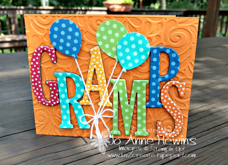 Gramps with the Large Letter Framelits by Jo Anne Hewins