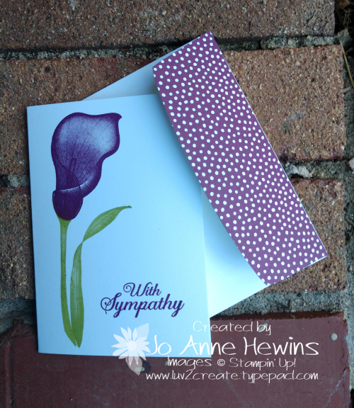 Lasting Lily Beginner with envelope by Jo Anne Hewins