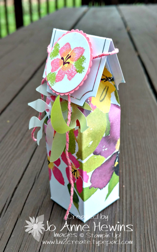 August Paper Pumpkin box side view by Jo Anne Hewins