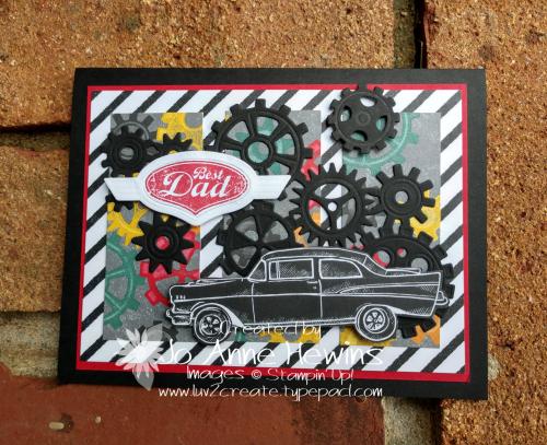 Geared Up Garage  SAB by Jo Anne Hewins