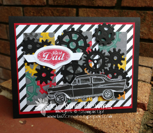 Geared Up Garage  SAB card by Jo Anne Hewins