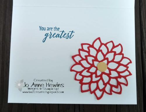CCMC #527 May Flowers  inside of card by Jo Anne Hewins