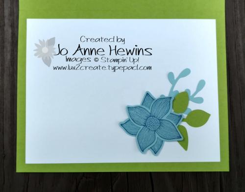 Pop of Petals inside of card by Jo Anne Hewins