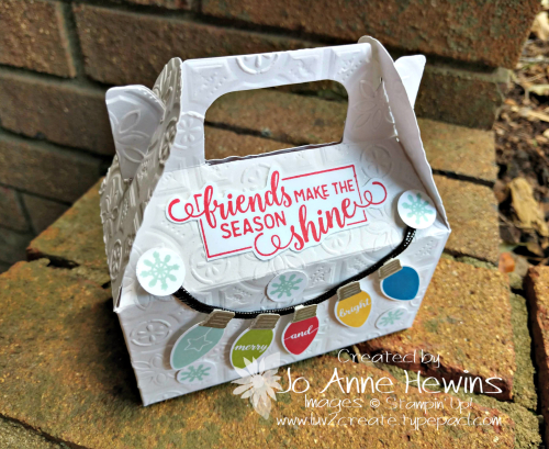 Making Christmas Bright Gable Box Bingo Treat by Jo Anne Hewins