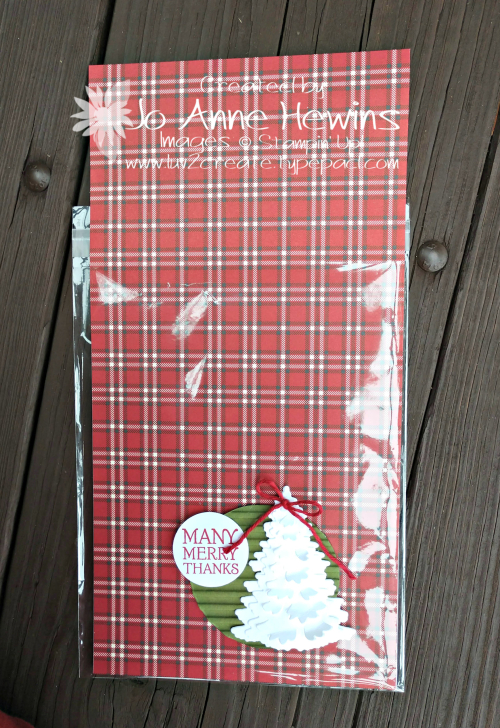 Festive Farmhouse seat gift with one fourth pack of DSP by Jo Anne Hewins