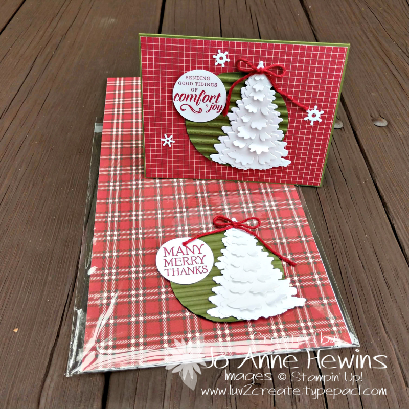 Festive Farmhouse seat gift and card by Jo Anne Hewins