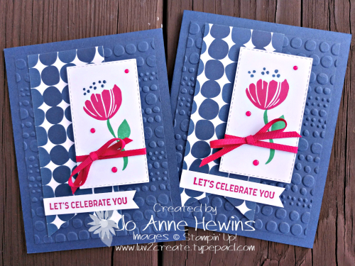 Bloom by Bloom card duo for Whisk & Barrel by Jo Anne Hewins