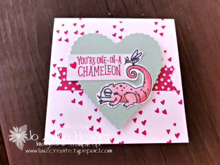 Be Mine Valentine Paper Pumpkin 3 x 3 Chameleon by Jo Anne Hewins