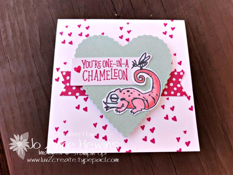 Be Mine Valentine Paper Pumpkin 3 x 3 Chameleon by Jo Anne Hewins