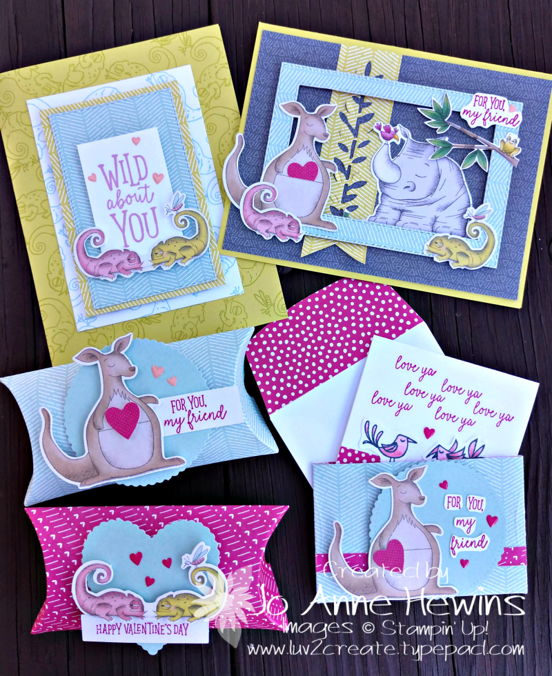 Be My Valentine January Paper Pumpkin projects by Jo Anne Hewins