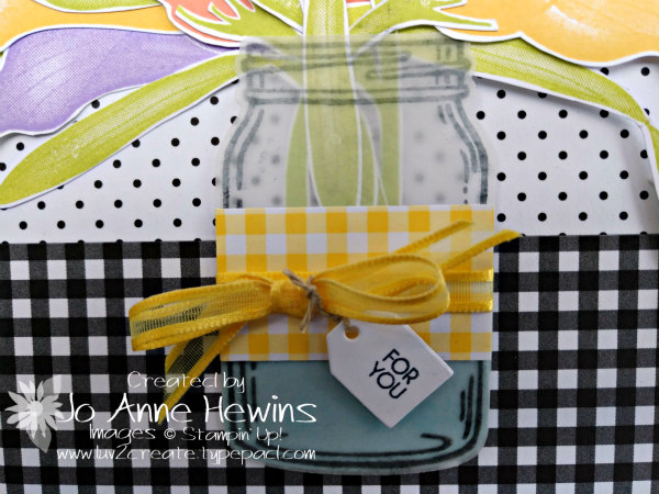 NC Demo Blog Hop for January Lasting Lily close up of jar by Jo Anne Hewins