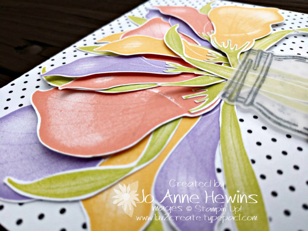 NC Demo Blog Hop for January Lasting Lily layer shot by Jo Anne Hewins