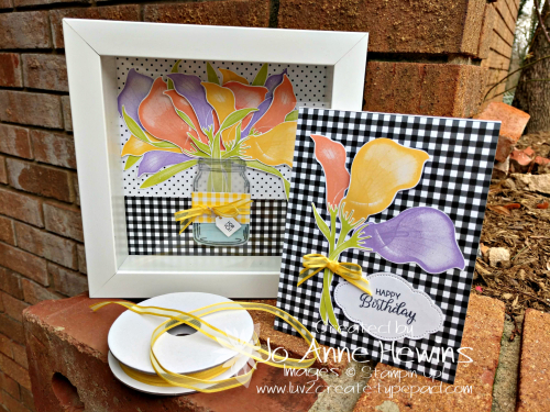 Lasting Lily Frame and Card with ribbon by Jo Anne Hewins
