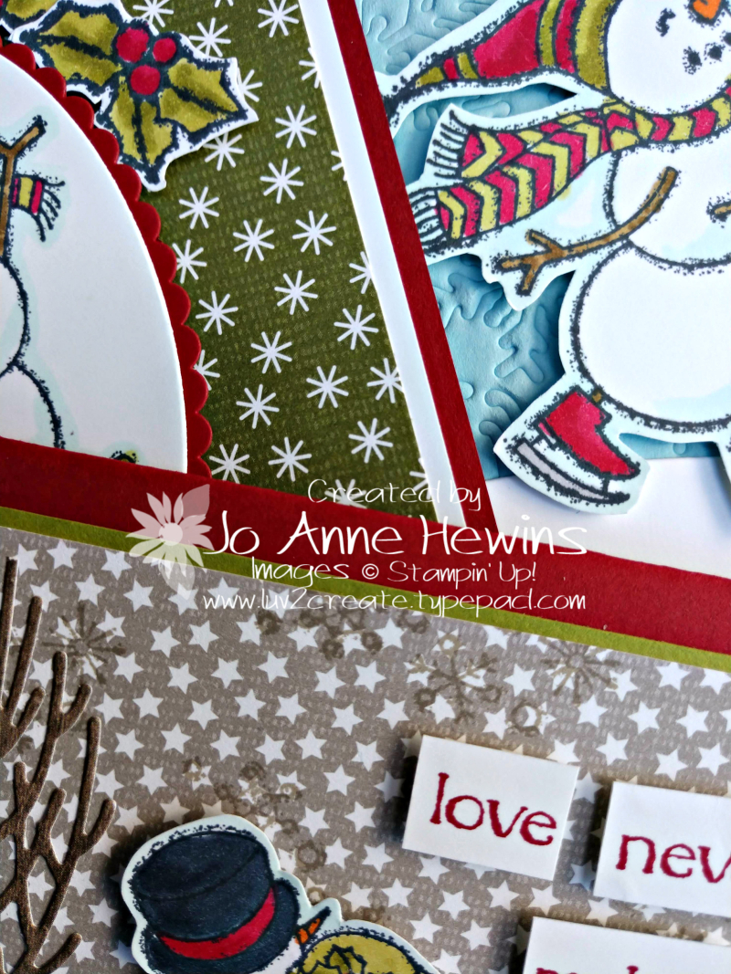 Spirited Snowmen Class to Go close up by Jo Anne Hewins