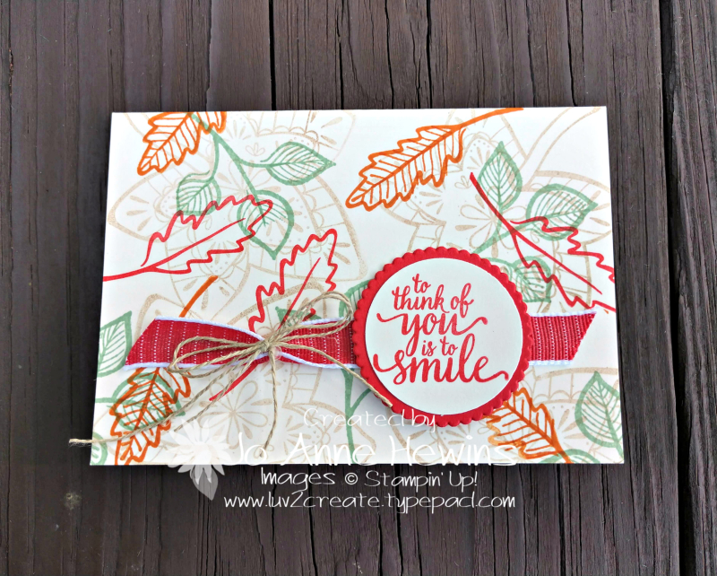 Falling for Leaves Vanilla Note Card by Jo Anne Hewins