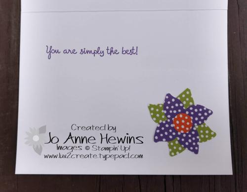 CCMC #533 Four-Petal Flower Punch inside by Jo Anne Hewins