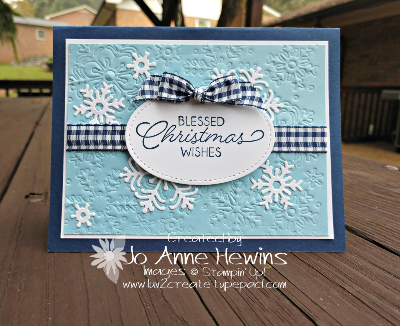 Blessed Christmas Wishes Beautiful Blizzard by Jo Anne Hewins